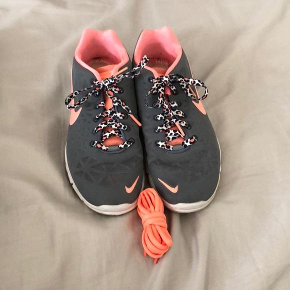 a04795d06da6fc Nike Shoes - Grey   Coral Leopard Print Nike s
